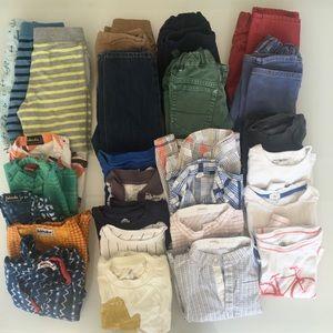 Boys clothes  4T tshirts, shorts, pants 31 items